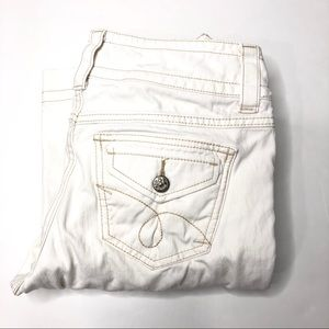 CAbi #343R Famous Flap Off White Boot Cut Jeans